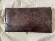 Timothy Oulton Rhodes Travel Leather Wallet Brown XL With Dustbag
