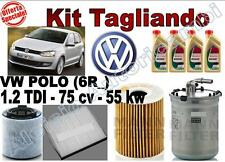 KIT TAGLIANDO OLIO CASTROL EDGE 5W30 + FILTRI VW POLO (6R_) 1.2 TDI 55 KW 75 CV*