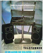 Publicité Advertising 1978 La Chaine Hi-fi combiné compact 5030 Telefunken