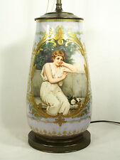 H.Stadler Hand  Painted  Royal Vienna  Antique  Porcelain Vase mounted as a Lamp