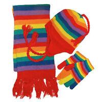 Pride Shack - Lesbian Gay Pride Winter Apparel Set (Rainbow, Hat Gloves & Scarf)