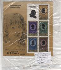 KOREAN MINI SHEET 150th ANNIVERSARY OF DEATH VAN GOETH 1982 6W32