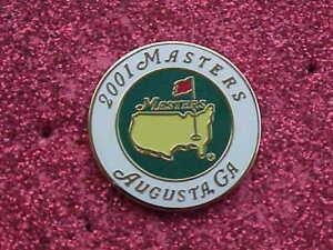 2001 Augusta National Golf Club Masters Tournament Stemmed Enamel Ball Marker M