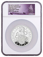 2017 G. Britain 5 oz Silver Queen's Beasts Unicorn £10 NGC PF69 UC ER SKU48253