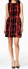 Calvin Klein New Sleeveless Printed Fit & Flare Dress Sz12 MSRP $169 #EN 1286/12