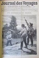 JOURNAL DES VOYAGES N° 867 de 1894 AMERIQUE PANAMA UN ENTERREMENT INDIEN