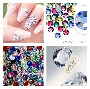 50x Swarovski Elements Crystals Mixed Colur+sizes SS16/SS20 Rhinestones Nail Art