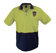 Wellington Phoenix A-League Hi-Viz Yellow Short Sleeve Work Polo Shirt XL