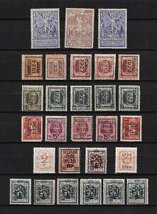 Belgium Mixed stamps and precancelled