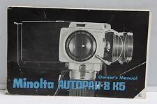 Minolta Autopak 8 K5 8mm Camera Manual Instruction Book - English - Used B102