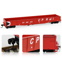 1pc/2pcs HO Scale 53ft Red CP Rail Low-side Gondola Car Railway Wagons