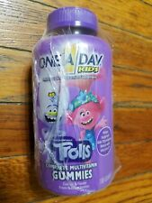 One A Day Kids Trolls Complete Multivitamin Gummies, 180 Count exp 11/21