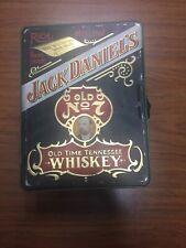 Jack Daniels Old Time Tennessee Wiskey Tin Poker Set