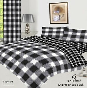 Complete Bedding Set-4Pcs Duvet Cover-Fitted Sheet-Pillowcase Curtains(Separate)