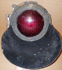 RARE Vintage U.S. & S. Co. Cast Iron Railroad Red Signal Light  WORKS !!!!!