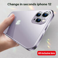 Square Plating Clear Soft Case Cover For iPhone SE 2020 11 Pro XS MAX XR X 8 6 7