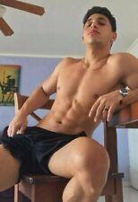 Shirtless Male Latino Muscular Athletic Hunk Gym Jock Beefcake PHOTO 4X6 F2087