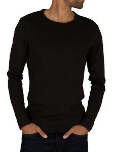 G-Star Men's Longsleeved Crew Logo T-shirt, Black