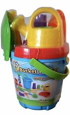 Sand & Water Bucket Playset with Large Shovel 17 Pieces