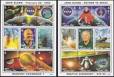 2 Blocs MONGOLIE N°2245/2262** BF Espace John Glenn 1998 MONGOLIA 2355-56 MNH