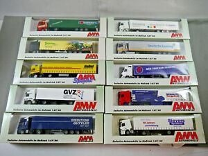 AWM Amw Conjunto 10 X Camión Maleta Semirremolque Haibel Gvz Schmitz Sievers 1: