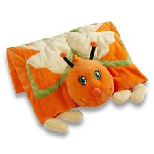 Orange & Yellow Butterfly Pillow Pet Blanket