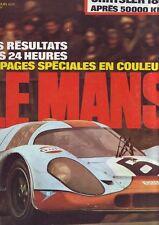 l'auto journal 12 - juin 1971 resultats des 24 heures du mans 16 pages speciales