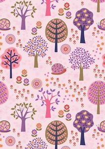 Lewis & Irene Flower Child groovy forest pink 100% cotton fat quarter-metre