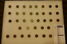 36 Indian Head / One Cent Penny Lot 1871 - 1956