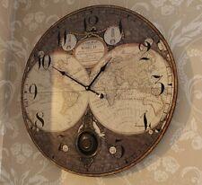 GRANDE orologio da PARETE a PENDOLO ATLAS Shabby Chic Vintage Retrò casa salotto regalo
