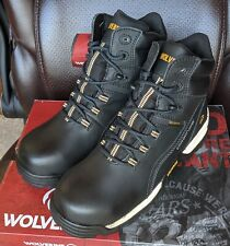 """Wolverine Tarmac Wp Reflective Composite Toe 6"""" Men's Work Boot W10304 size 9M"""
