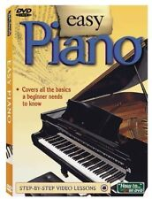 EASY PIANO DVD   Easy to use step-by-step video lessons   Brand New Sealed