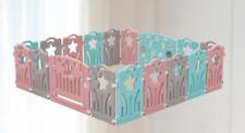 Estrella, 18 Paneles Parque para Bebé 100 Bolas, Plegable Niños , Room Divisor,
