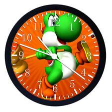 Yoshi Super Mario Super Car Black Frame Wall Clock Nice For Decor or Gifts W11
