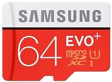 Samsung MB-MC64DA/EU EVO Plus microSD Card, 64GB