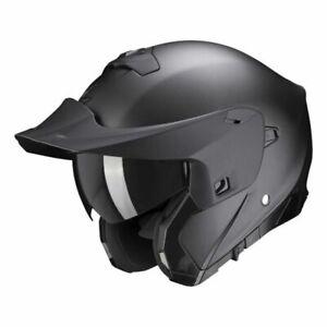 L 59-60 2021 SCORPION EXO 930 MODULAR MATT BLACK FLIP MOTORCYCLE CRASH HELMET