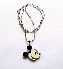 Mickey Mouse Head Charm Necklace Enamel Classic Costume Jewelry Free Shipping