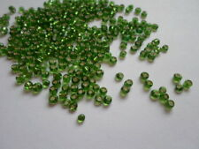 Seed Beads ~ Silver Lined Emerald Green ~ Size 8 ~ 75 Grams #27