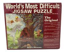 New Vintage World's Most Difficult Jigsaw Puzzle The Original Devil's Dilemma