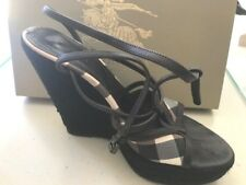 Burberry Wedge Platforms Size 39, UK6, AU8.  RRP $595