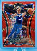 Matisse Thybulle 2019-20 Panini Select T-Mall PREMIER RED WAVE PRIZM #145 RC