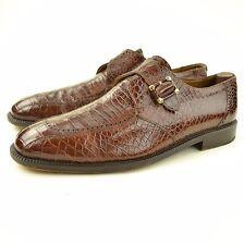 CHURCH'S Prima Classe HARDLY WORN Genuine Alligator Single Monkstrap Shoes 12 M