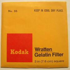 Kodak wratten GELATINA Filtro No 56 7.6cm OR 75mm Cuadrado