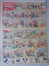 Mickey Mouse Sunday Page by Walt Disney from 1/22/1939 Tabloid Page Size
