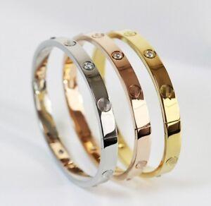 Love Forever Screw Embossed Bracelet & Bangle For Women