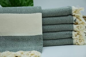 40x70 Dark Green Diamond Towel 100% Organic Cotton Towel Turkish Towel ,Gzd-Lms