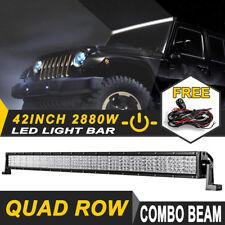 "42inch 2880W QUAD ROW PHILIPS LED Work Light Bar Offroad UTE ATV 4x4WD 40/44/45"""