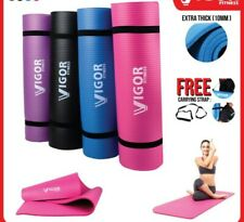 10mm Thick Yoga Mat Premium NBR Quality With Carry Strap READY STOCK