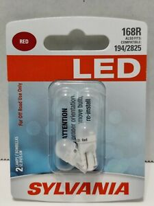Sylvania LED Light 168R Two Lamps Red Off Road 12.8V / 0.6W