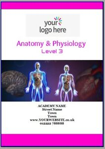 Editable ANATOMY & PHYSIOLOGY LEVEL 3 Training Manual. 100 pages. Beauty Academy